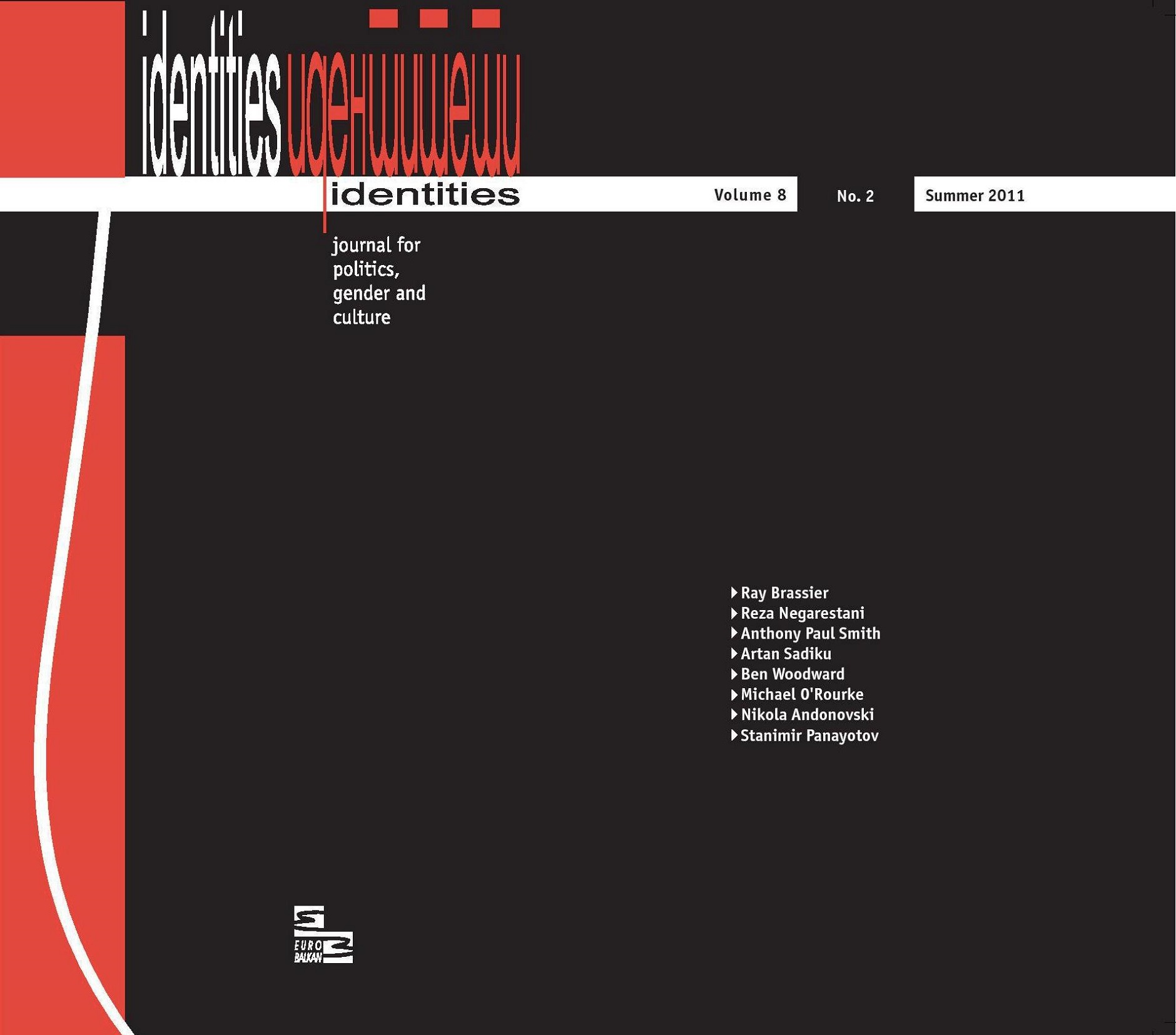 View Vol. 8 No. 2 (2011): Vol. 8, No. 2 (Summer 2011) - Issue No. 19 | Topic: Heretical Realisms, edited by Katerina Kolozova and Stanimir Panayotov